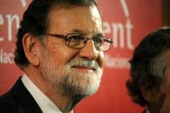 Mariano Rajoy i Barcelona första gång efter 155 Royaltyfria Bilder