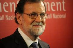 Mariano Rajoy i Barcelona första gång efter 155 Arkivfoton