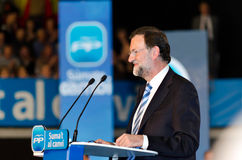 Mariano Rajoy, in L'Hospitalet, Spain Royalty Free Stock Images