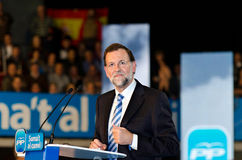 Mariano Rajoy, in L'Hospitalet, Spain Royalty Free Stock Photo