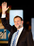 Mariano Rajoy, in L'Hospitalet, Spanje Royalty-vrije Stock Afbeelding