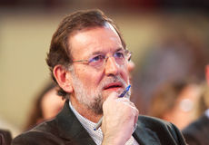 Mariano Rajoy reacts Stock Images