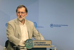 Mariano Rajoy during speech Stock Photos