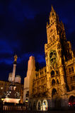 Marianplatz at night Royalty Free Stock Photography