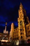 Marianplatz at night Royalty Free Stock Photography