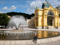 Marianske Lanze town, Czech Stock Image