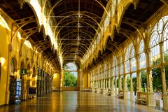 Marianske Lazne, chech republic - magnificent Colonnade stock images