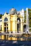 Marianske Lazne (Marienbad). Colonnade with Singing fountain, Marianske Lazne (Marienbad), Czech Republic Stock Photography