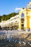 Marianske Lazne (Marienbad). Colonnade with Singing fountain, Marianske Lazne (Marienbad), Czech Republic Royalty Free Stock Photography