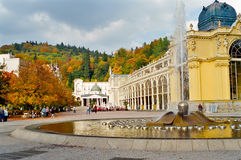 Marianske Lazne singing fountain, Czech Republic Royalty Free Stock Photography