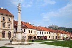 Marianske square in Spisske Podhradie, Slovakia Stock Images
