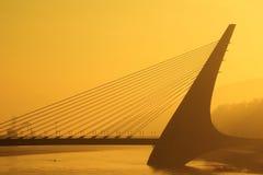 Mariansky bridge in Usti nad Labem Stock Photography