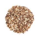 Marianum orgânico do Silybum da semente do cardo de leite na forma do círculo imagem de stock royalty free
