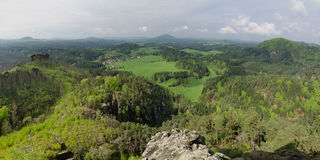 Marias rock vista point, Bohemian Switzerland, Cze Royalty Free Stock Photography