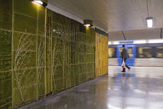 Mariatorget underground station in Stockholm.Every Stockholm st Royalty Free Stock Photo