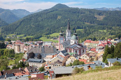 Mariazell - Basilica of the Birth of the Virgin Mary - holy shrine from east Austria. Stock Photos