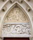 Mariazell - relief from portal of basilica. Calvary Royalty Free Stock Images