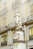 Mariblanca statue,  Puerta del Sol square, Madrid. The Mariblanca statue, dated 17th century, in Puerta del Sol square, Madrid, Spain Royalty Free Stock Images