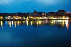 Maribor, φεστιβάλ που παραχωρούν και ποταμός Drava Στοκ φωτογραφία με δικαίωμα ελεύθερης χρήσης