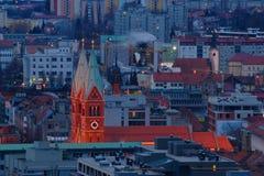 Maribor - взгляд города стоковые изображения
