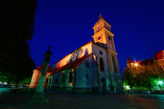 Maribor Cathedral By Night Royalty Free Stock Photos