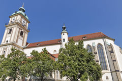 Maribor Cathedral in Slovenia stock images