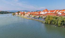 Maribor city and Drava river in Slovenia. royalty free stock images