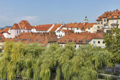 Maribor city in Slovenia. stock photo