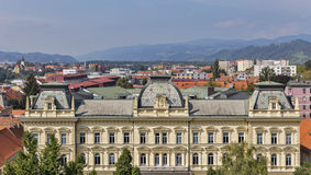 Maribor cityscape, Slovenia stock photos