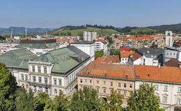 Maribor cityscape, Slovenia stock photo