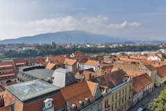 Maribor cityscape, Slovenia royalty free stock photo