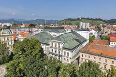Maribor cityscape, Slovenia royalty free stock photos