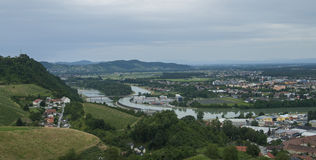 Maribor with Drava Royalty Free Stock Images