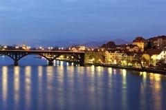 Maribor at night Royalty Free Stock Photos