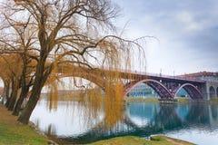 Maribor old bridge Stock Images