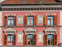 Maribor old decorated house, Slovenia royalty free stock photo