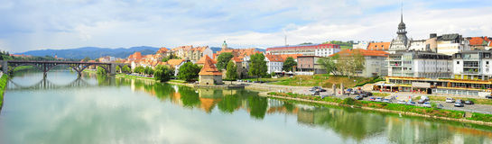 Maribor skyline Stock Photography