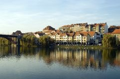 Maribor Slovenia. City of Maribor, Slovenia, on the Drava river Stock Images