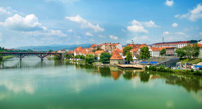 Maribor Slovenia. Panorama Of Maribor in Slovenia royalty free stock image