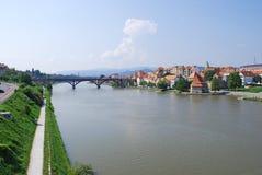 maribor slovenia town Arkivfoton