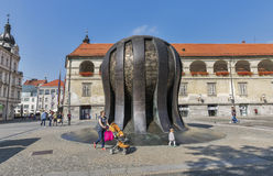 Maribor square with monument Kojak, Slovenia royalty free stock image