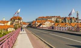 Maribor stad, Slovenien arkivbild