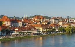Maribor stad, Slovenien Fotografering för Bildbyråer