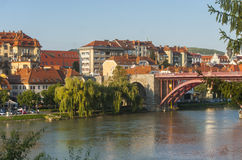 Maribor stad, Slovenien Royaltyfria Foton