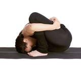 Marichiasana excercising da ioga fotografia de stock royalty free