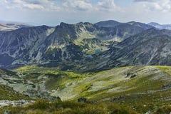 Marichini Lakes from Musala Peak, Rila mountain Royalty Free Stock Photography