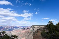Maricopa Point. The immense size of  canyon and erosional forms  viewed from Maricopa Point , Grand Canyon National Park , Arizona Royalty Free Stock Photography