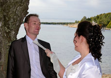 Marido bajo control Imagenes de archivo