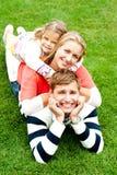 Marido, esposa y niño llenados en uno a Foto de archivo libre de regalías