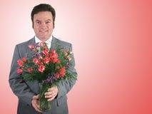 Marido romántico - color de rosa imágenes de archivo libres de regalías